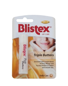 BLISTEX HUULEPALSAM TRIPLE BUTTERS SPF15 4,25G